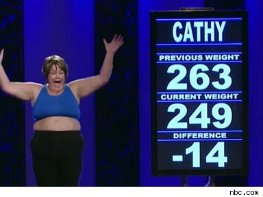 Placing a morbidly obese contestant on a fake set of scales (in most cases shirtless) does nothing more than perpetuate fat-shaming in general.